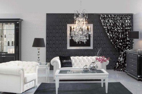 Black and white decor play contrast indoor lighting Bedrooms decorated in black and white