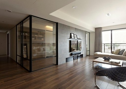glass walls at home
