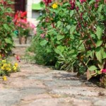 How to place tiles for the garden