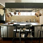 An industrial style kitchen