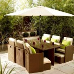 Rattan furniture for garden