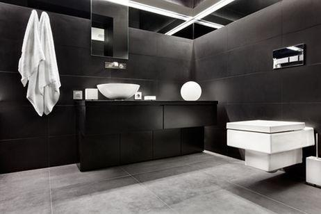 dark color in the bathroom