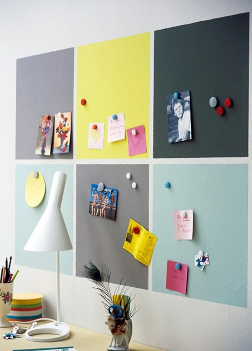 magnetic paint in study areas