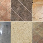 Types of floor tiles