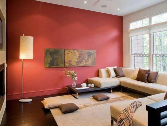 combine red and beige