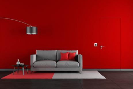 how to combine wall in red color indoor lighting