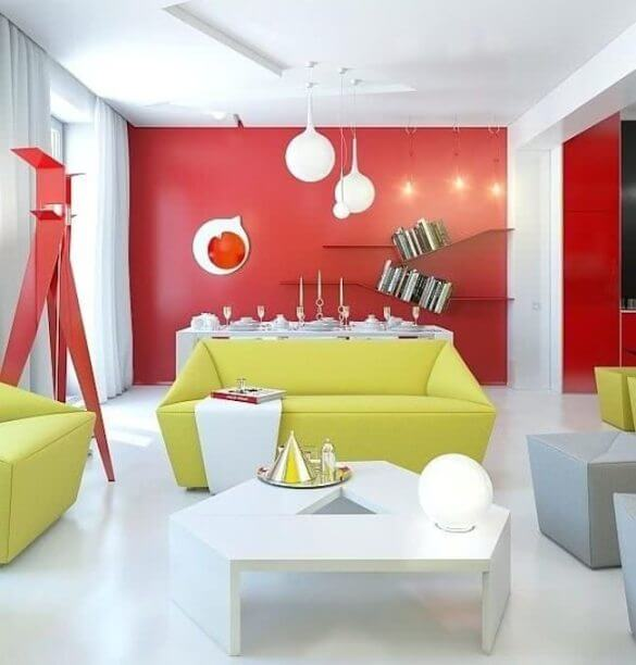 red and yellow in decoration