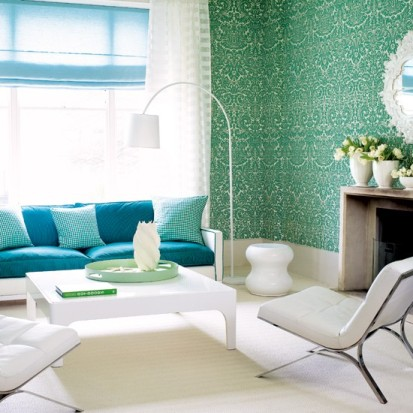 A wallpaper border creates a tasteful detail at an affordable price indoor lighting for Wall borders for living room