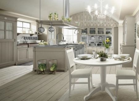 romantic style kitchens