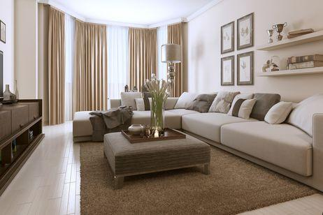 the earth tones are best used in the decoration of the rooms as these