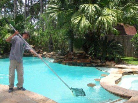 maintaining swimming pool