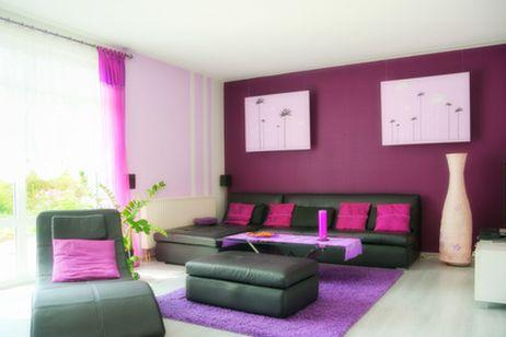 Decorate room in pink color indoor lighting for Couleur du salon sejour