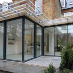 Glass curtains at home