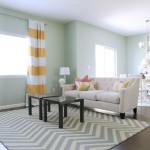 Decorate house with chevron stripes