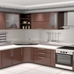 Kitchen with chocolate color