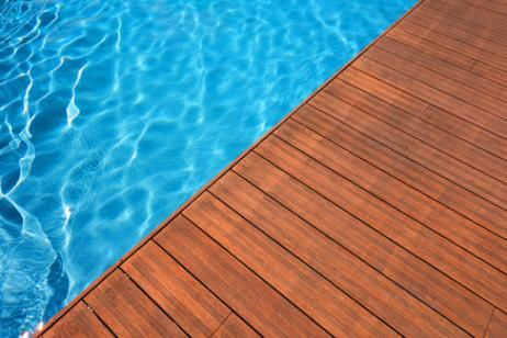 wood flooring swimming pool