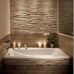 Decorate the bathroom with stones