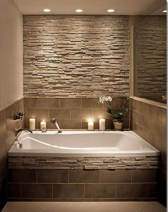 bathroom with stone
