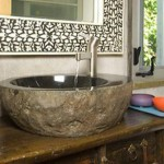 Stone sinks for cozy bathrooms