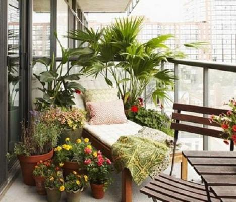5 economic ways to decorate your balcony indoor lighting for How to decorate terrace with plants