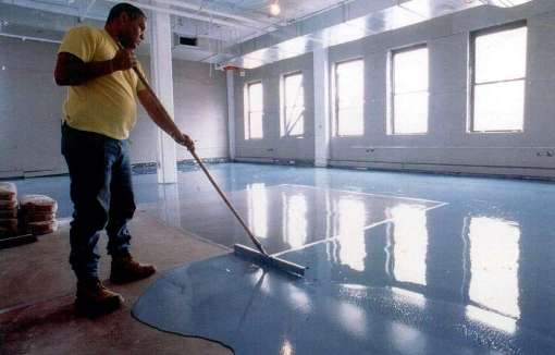 Epoxy floors flooring with more resistance than concrete for Indoor concrete cleaner